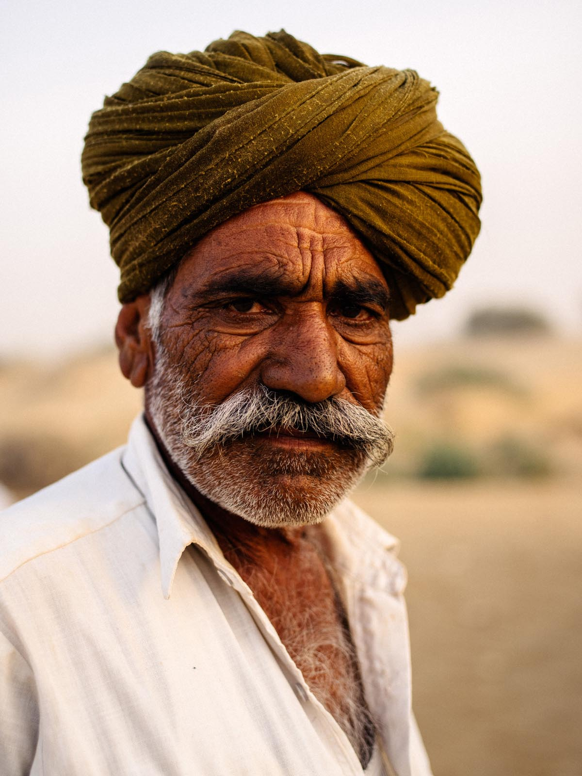 Camel guide. Jaisalmer, India.