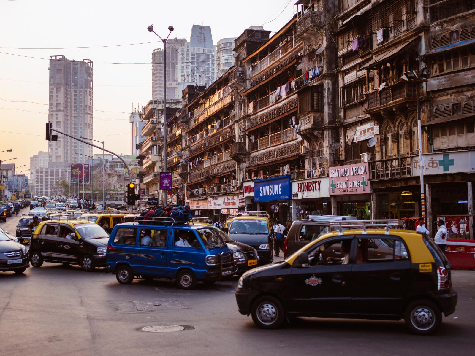 Our first stop: Bombay, India.
