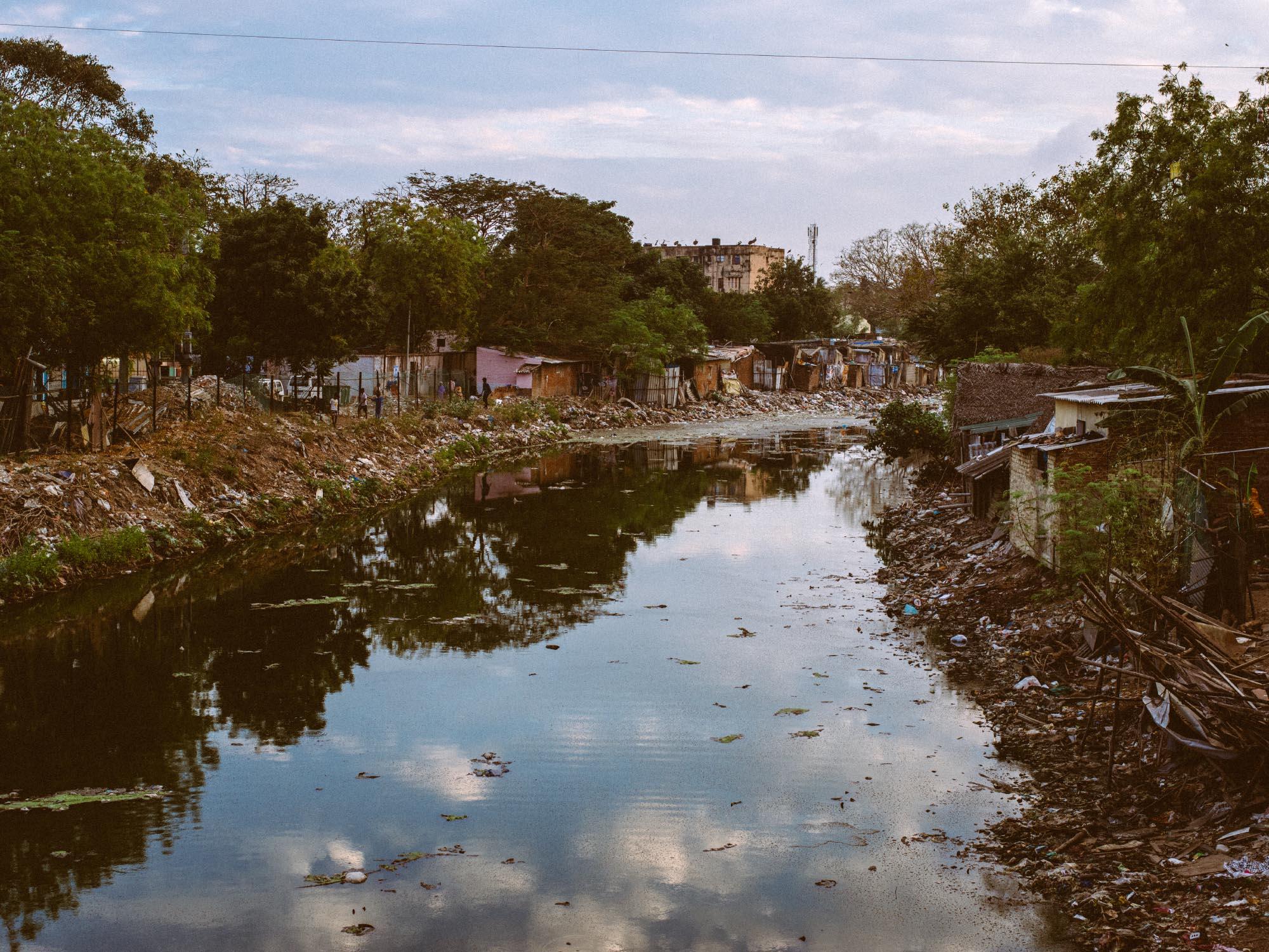 Random river in Chennai. Sadly, we've seen far worse than this...