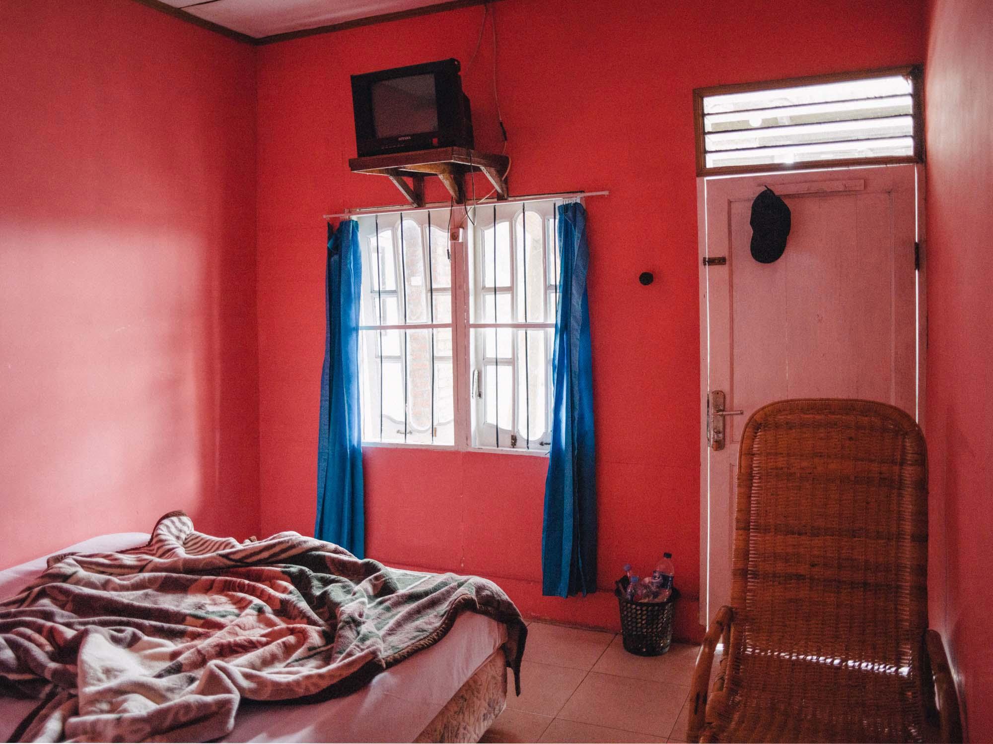 Our room in Berastagi.
