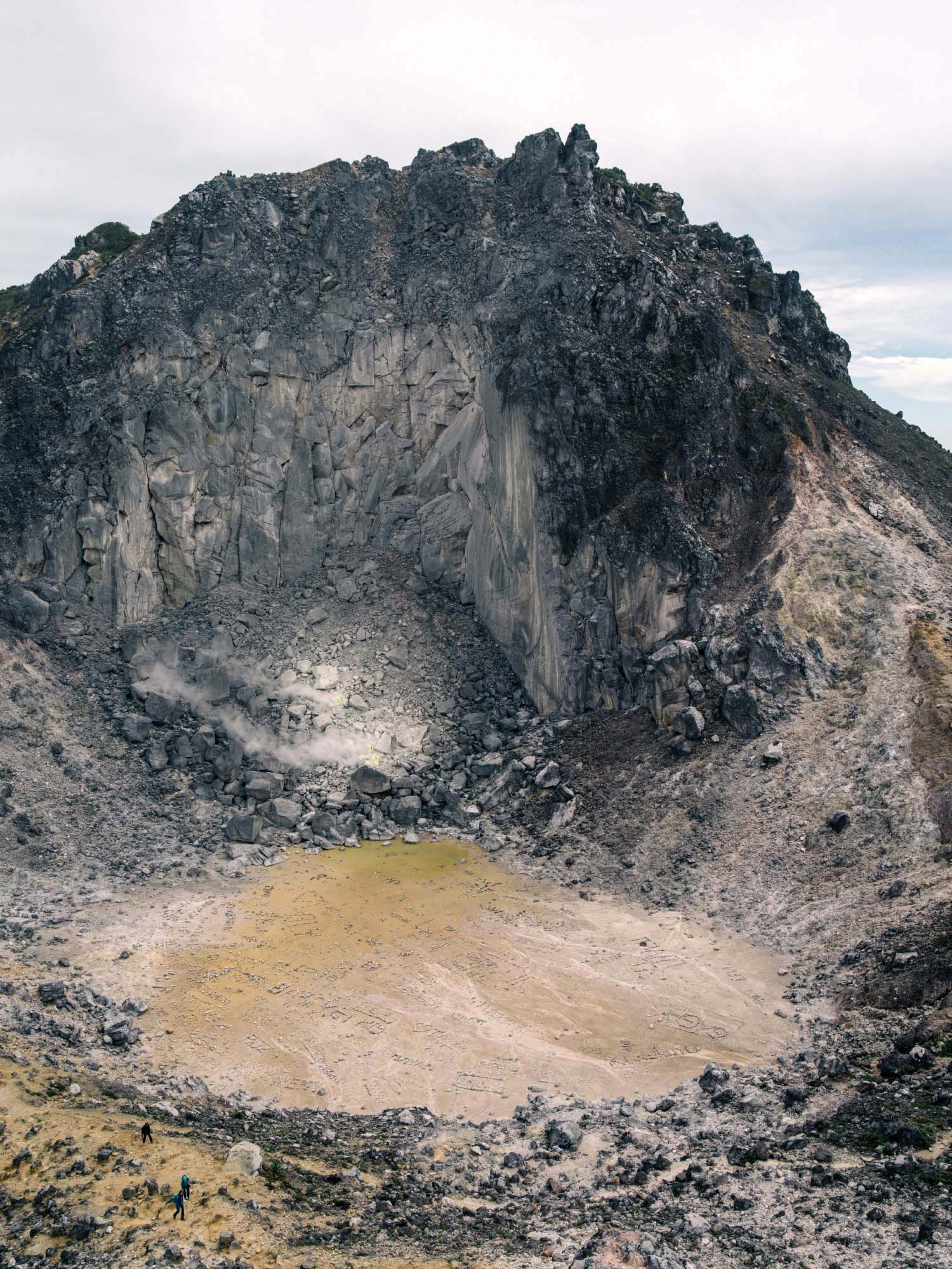The crater of Mount Sibayak.