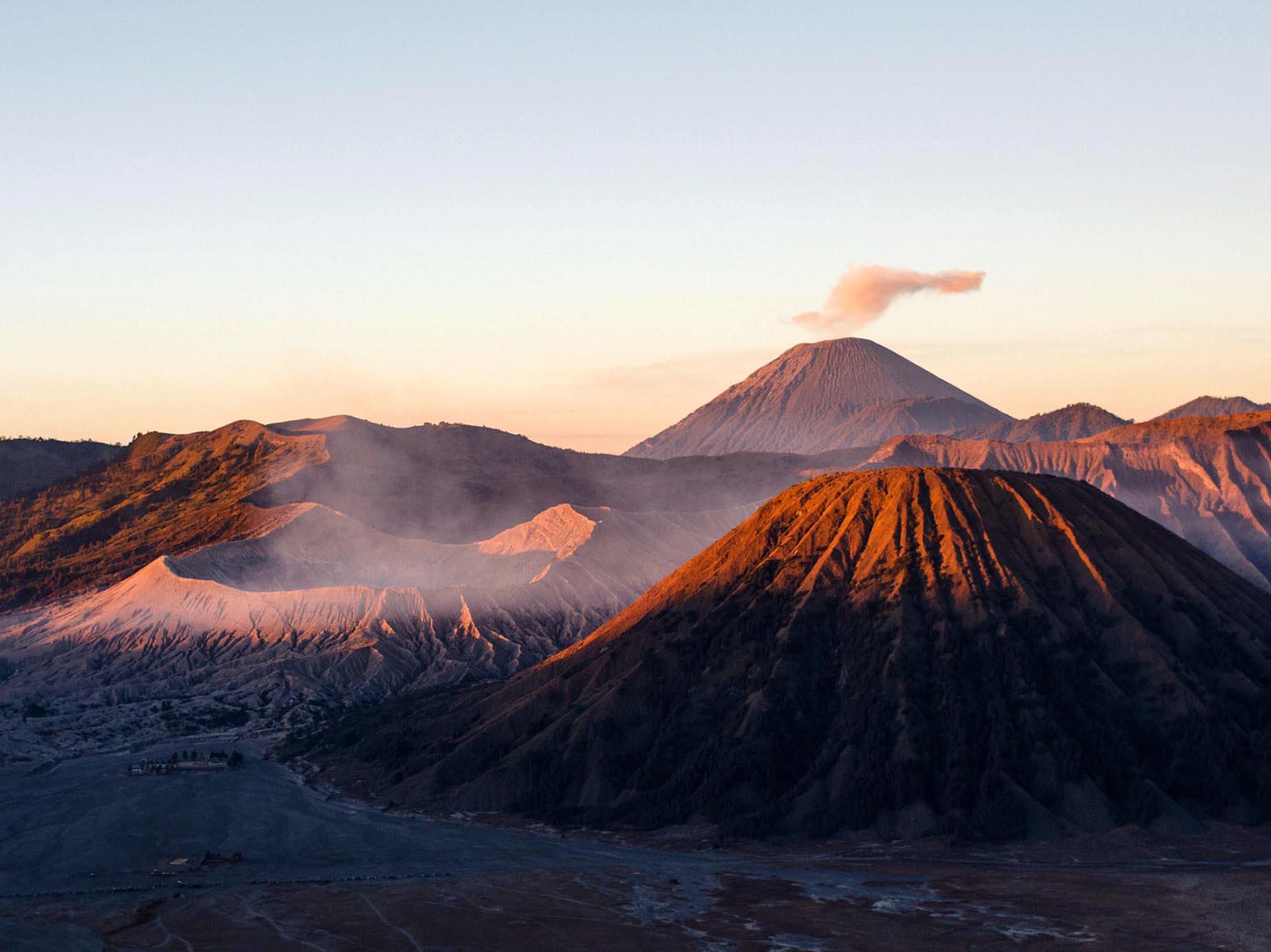 Sunrise at Mount Bromo.