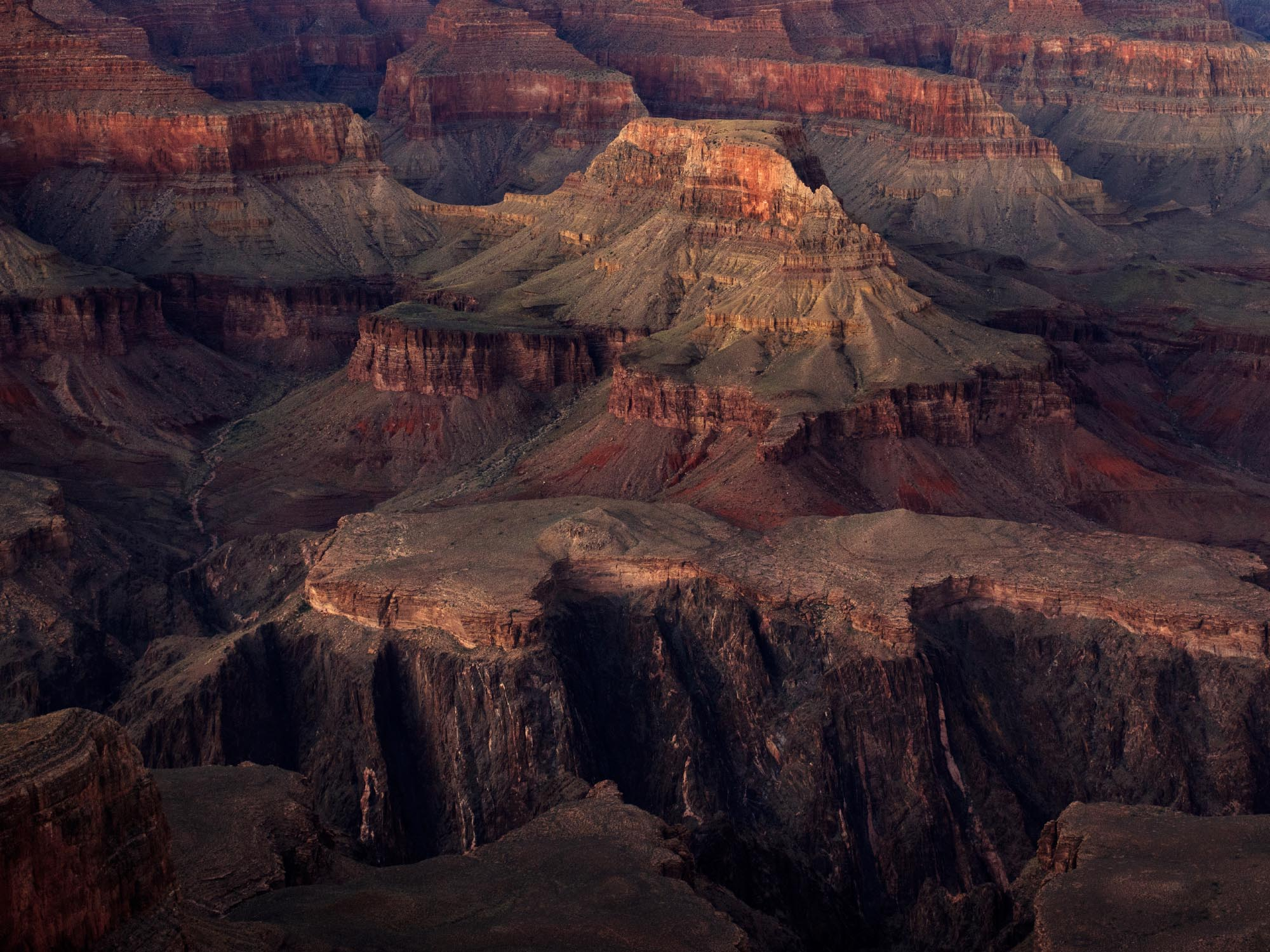 Grand Canyon after sunset.