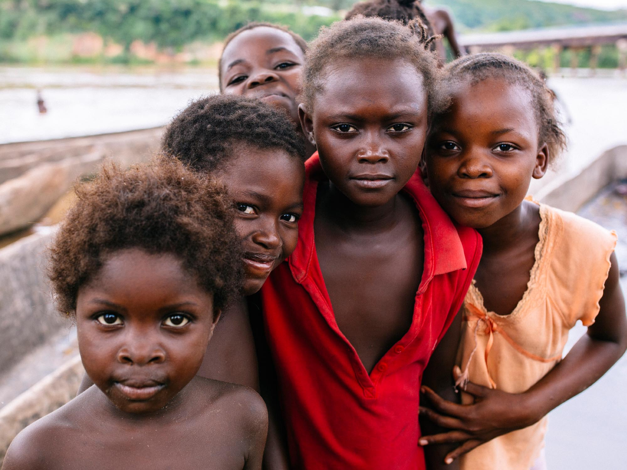 Improve your travel photography with portraits. Kenge, Democratic Republic of Congo.
