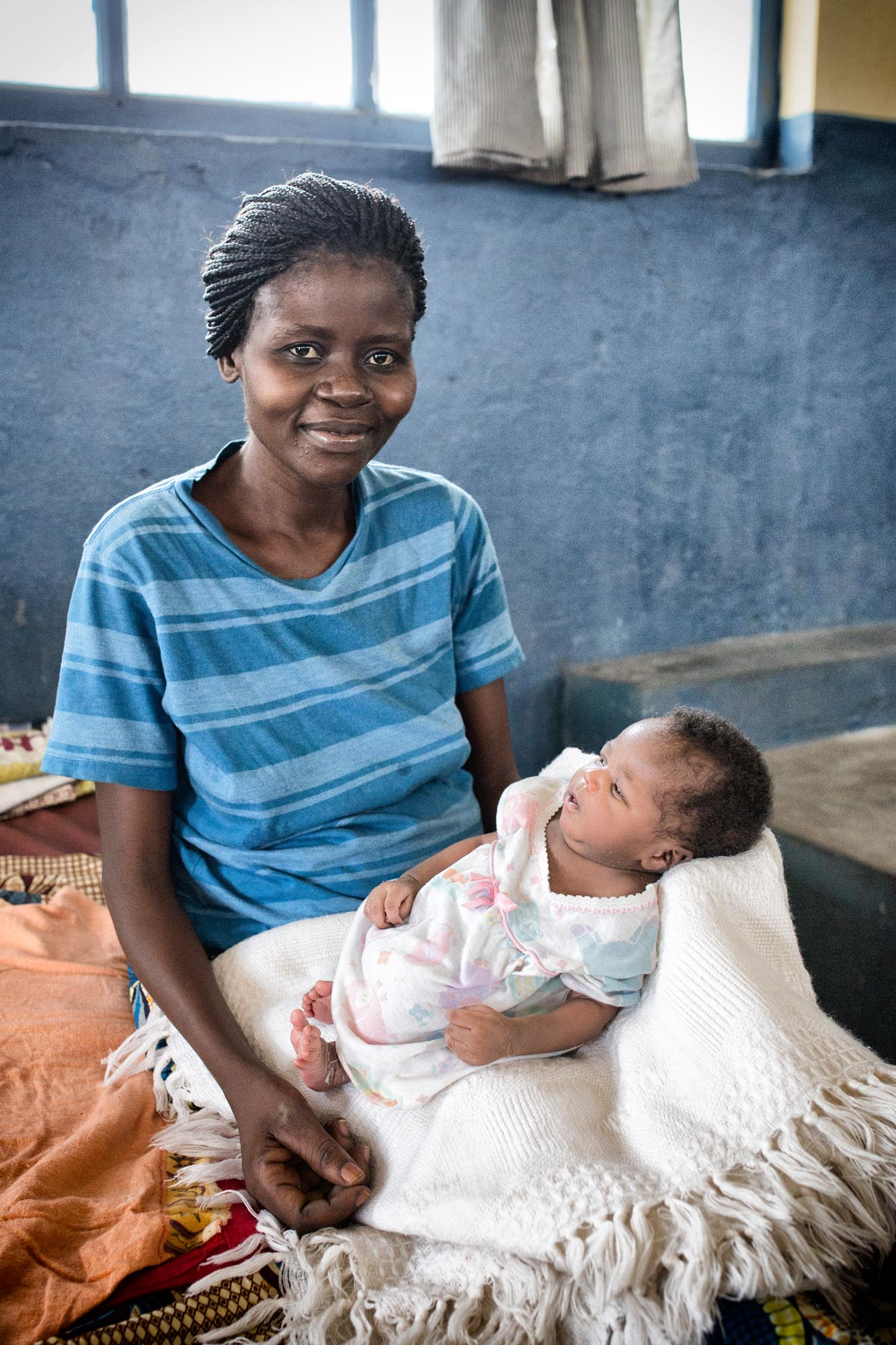 Mother in Mosango hospital, DR Congo.