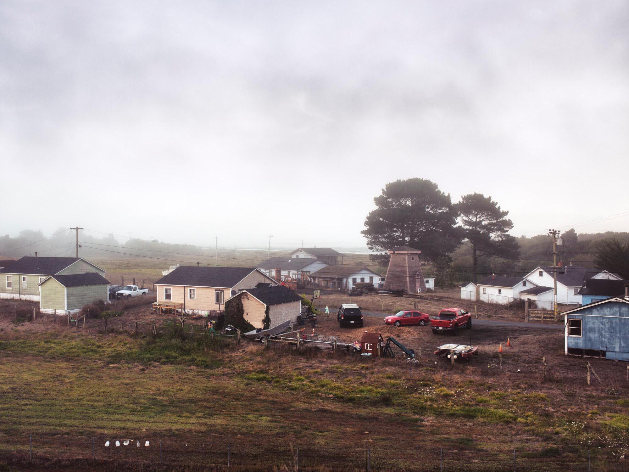 Foggy morning in Samoa, California.