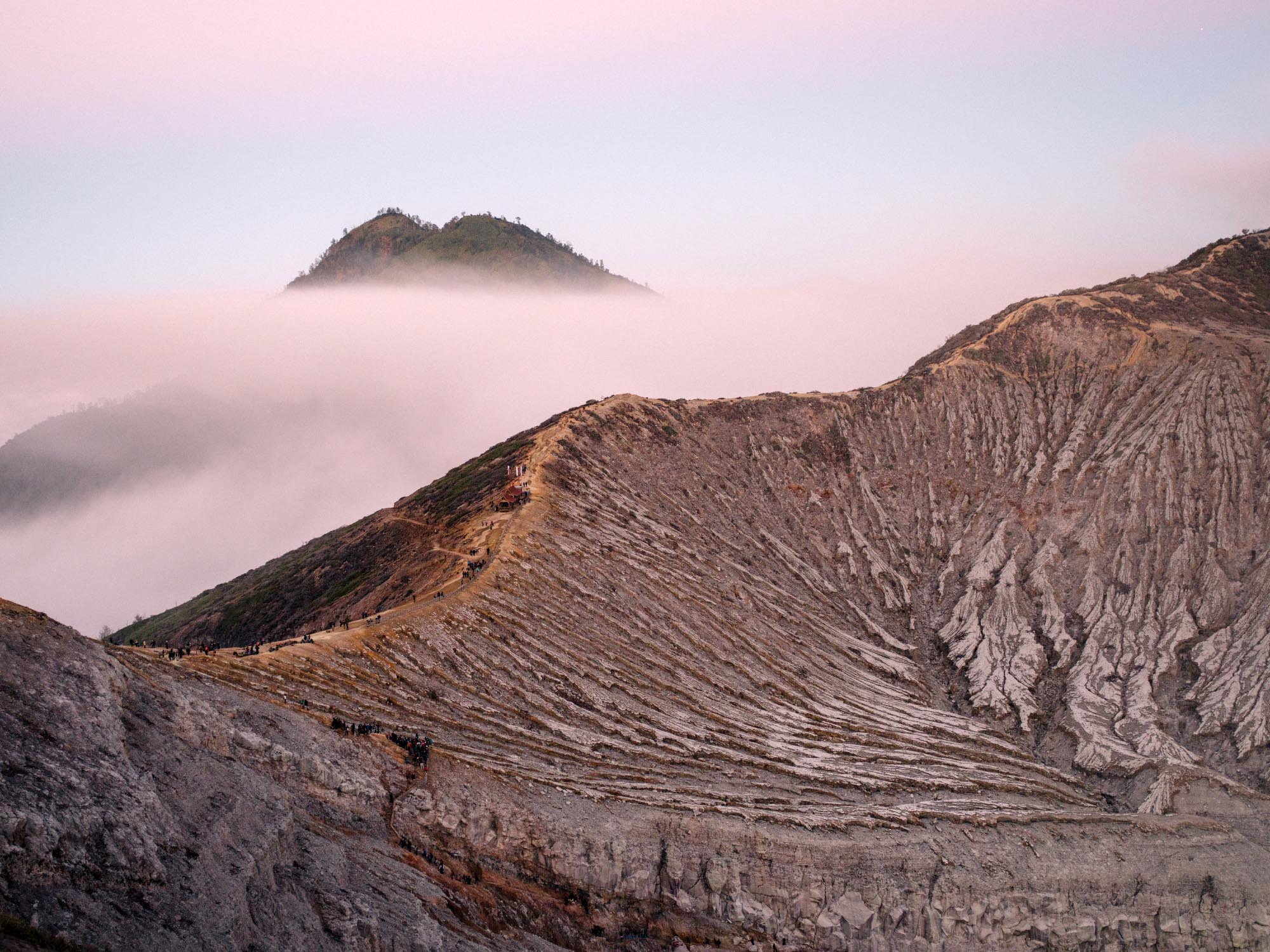 The Rim of Ijen.  All photography by    Joris Hermans.