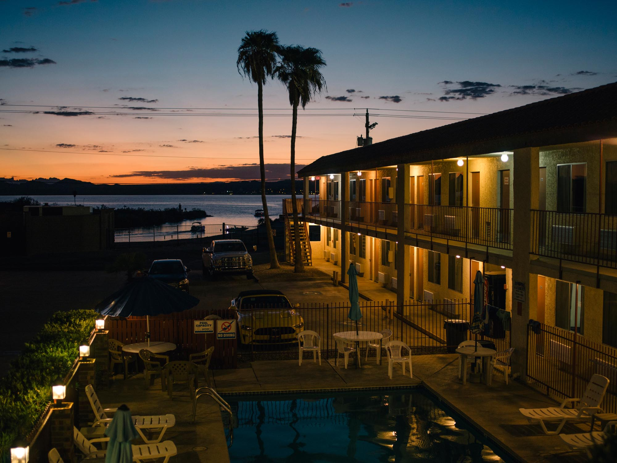 Our motel in Lake Havasu City, USA.