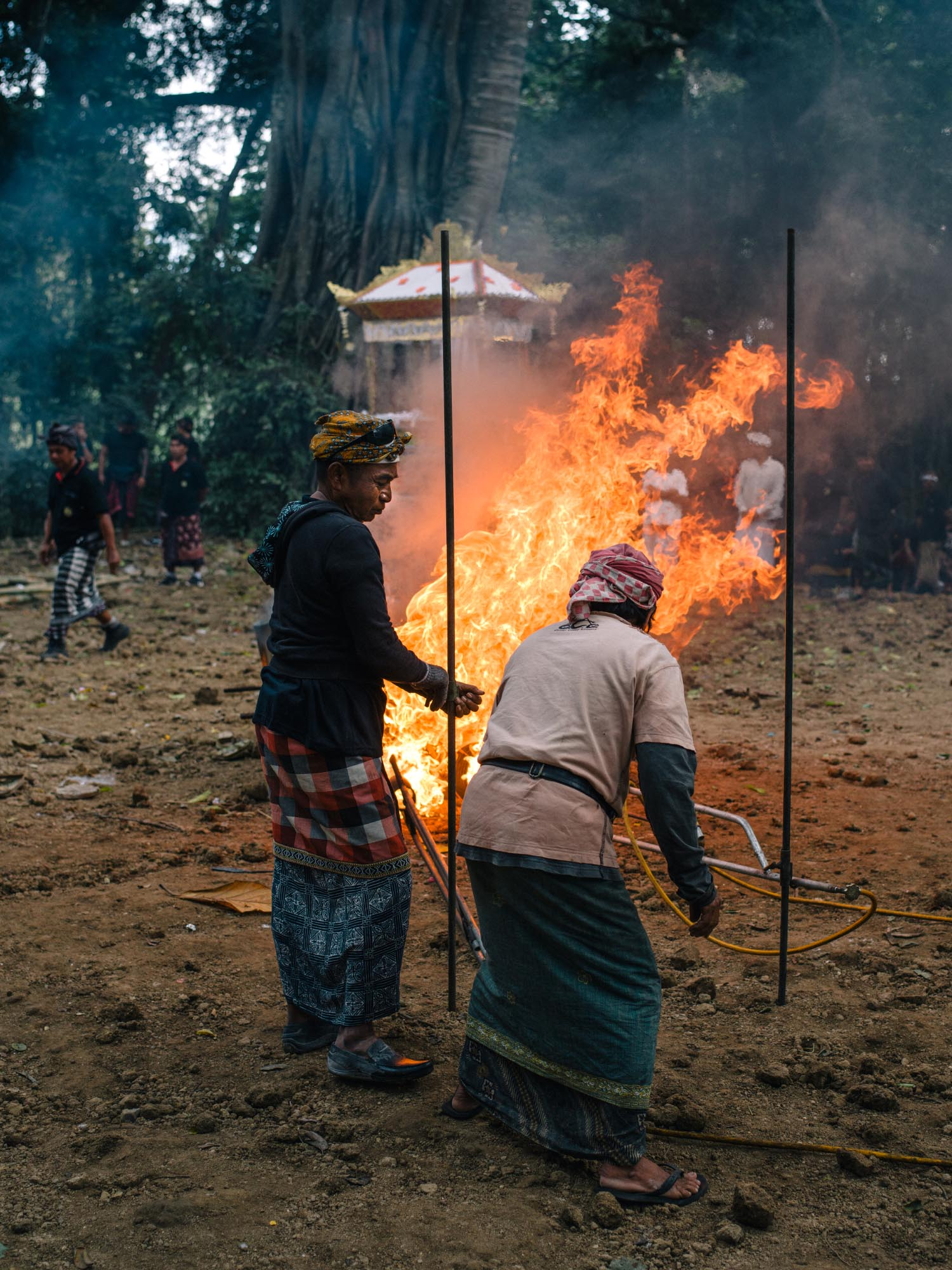 Cremation in Bali.