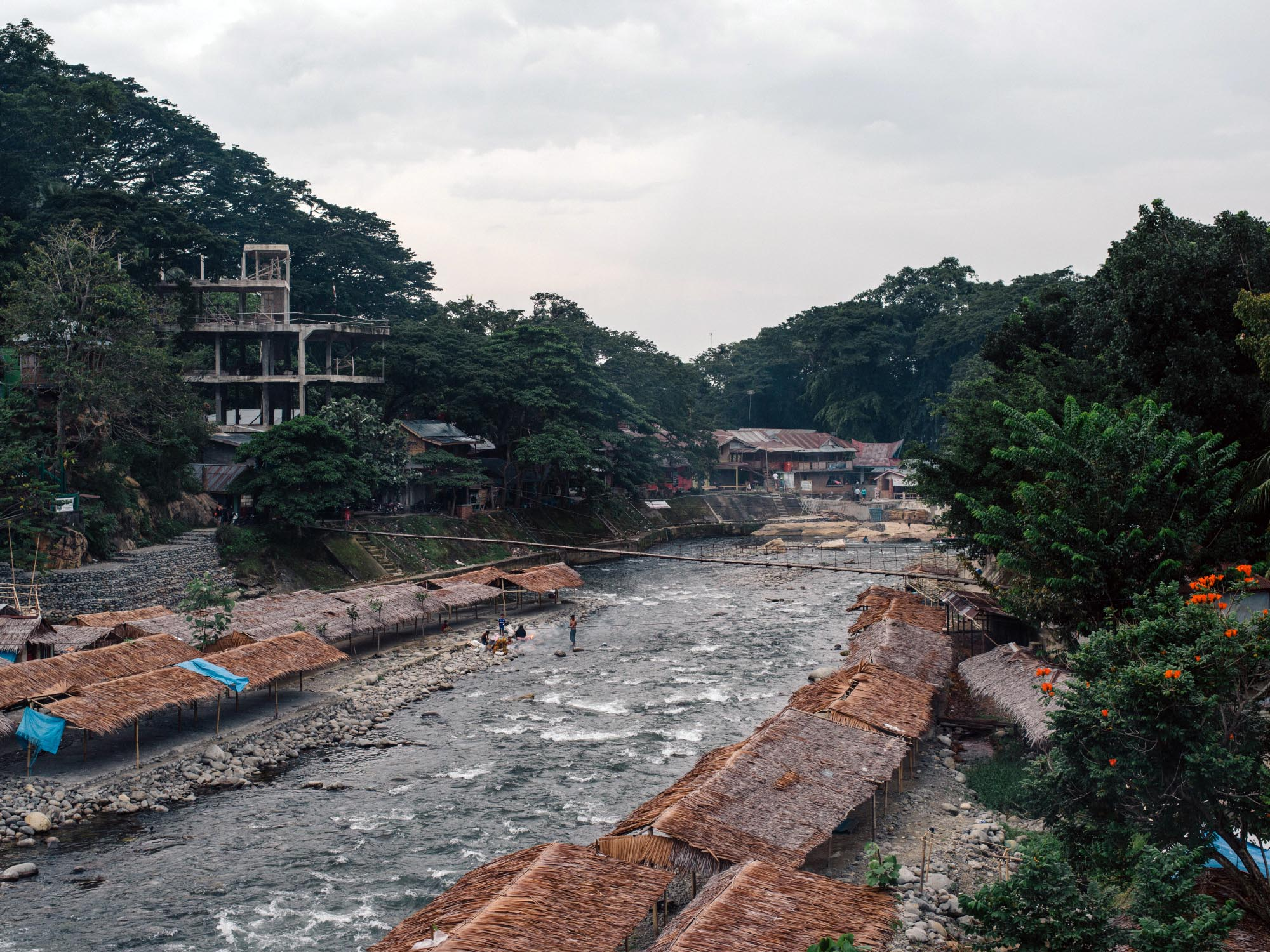 View from a bridge in Bukit Lawang.