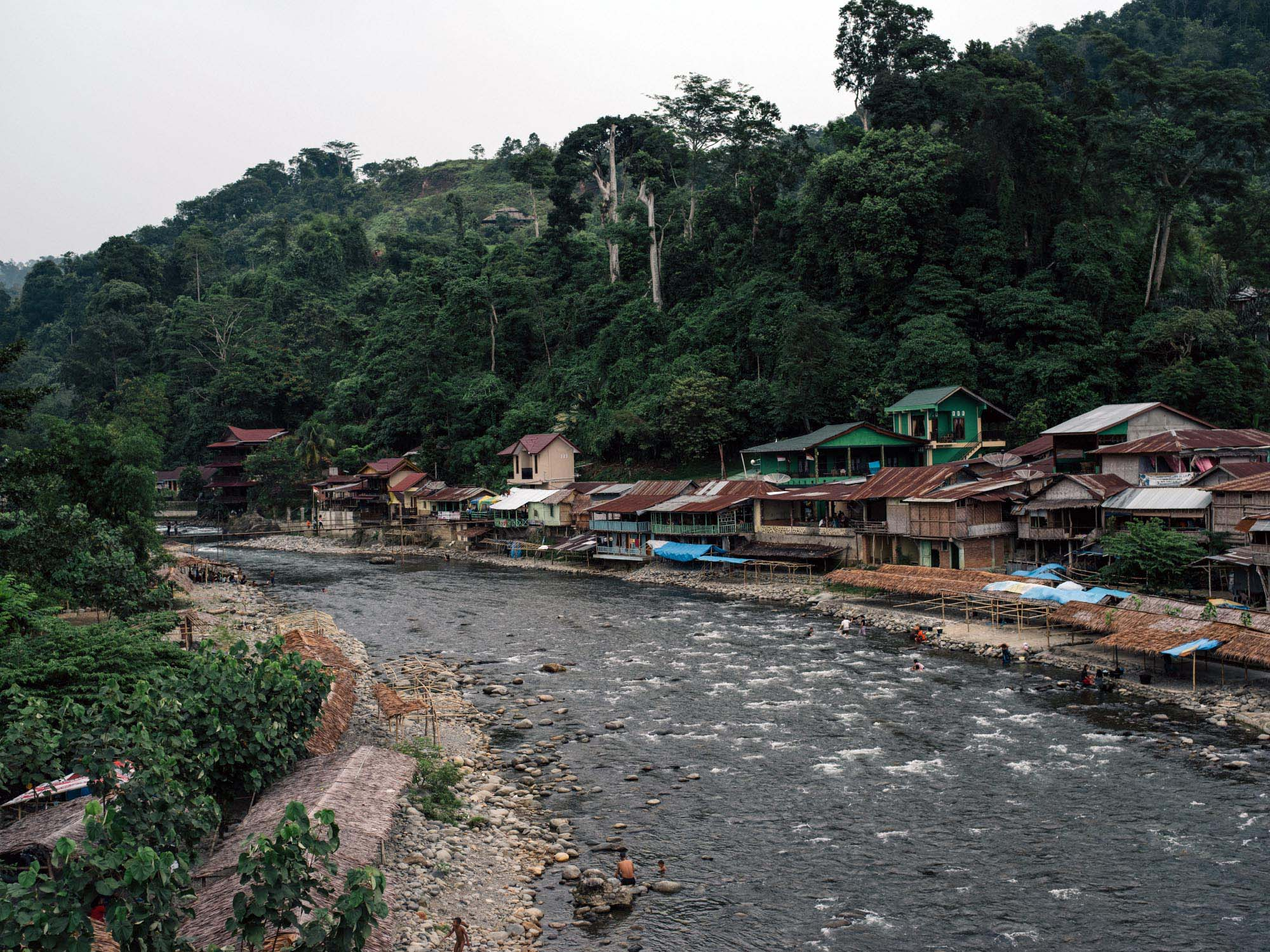 View of Bukit Lawang.