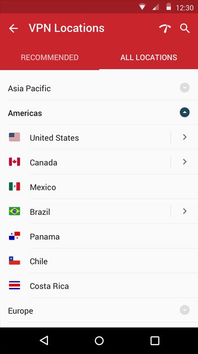 VPN Locations.
