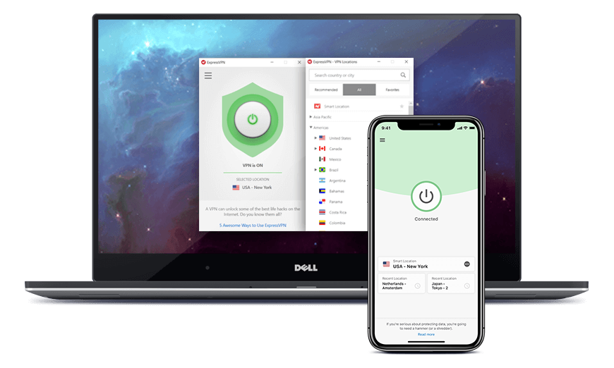 A VPN secures the connection of your  laptop AND phone.