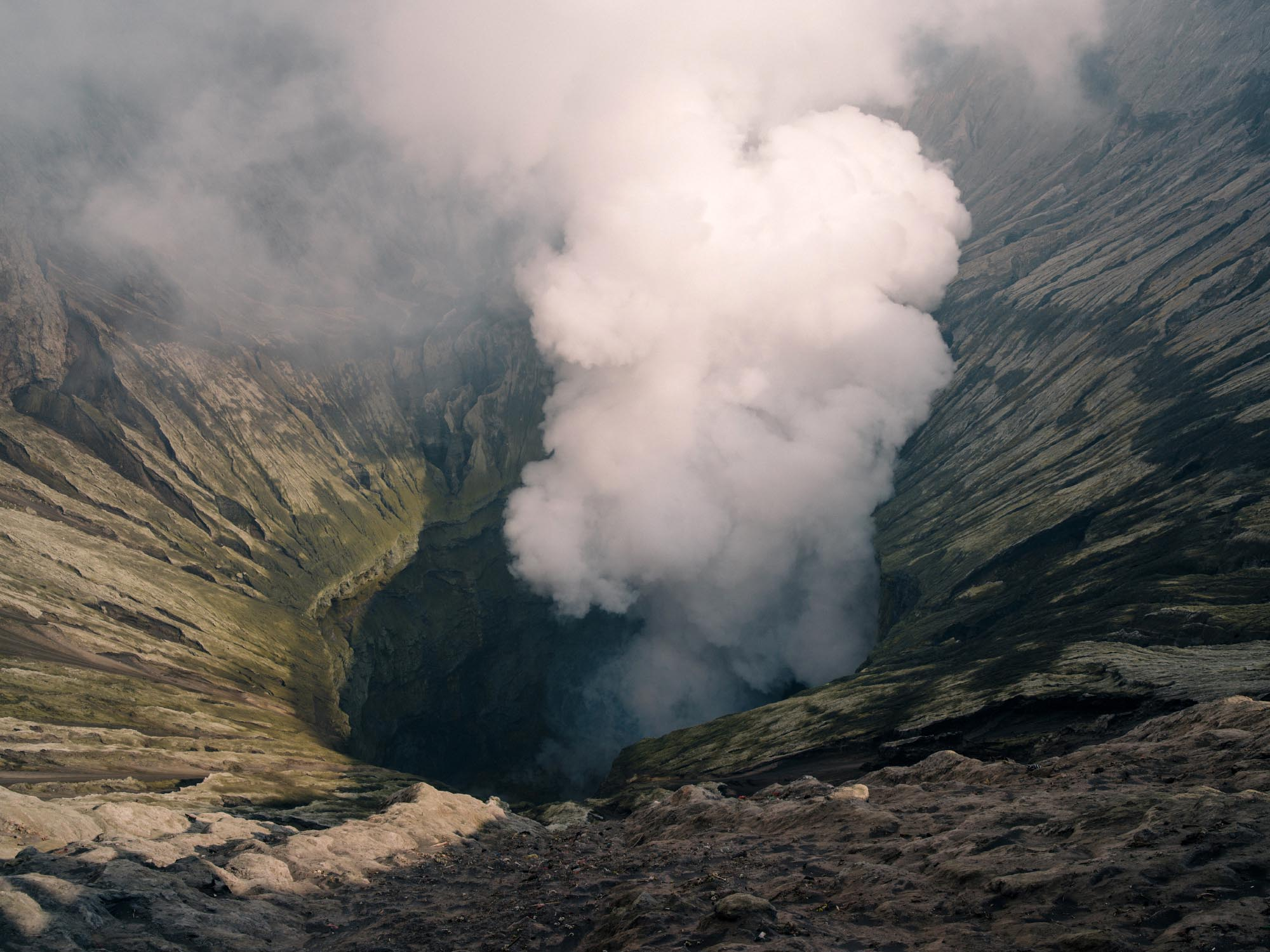 This is what it's all about: Bromo's roaring crater.