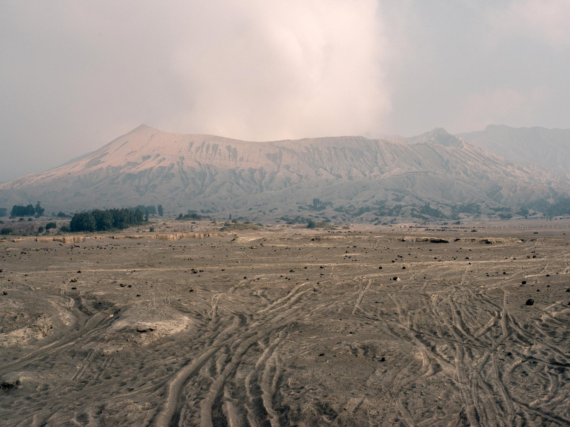 Sea of Sand with Mount Bromo in the background.
