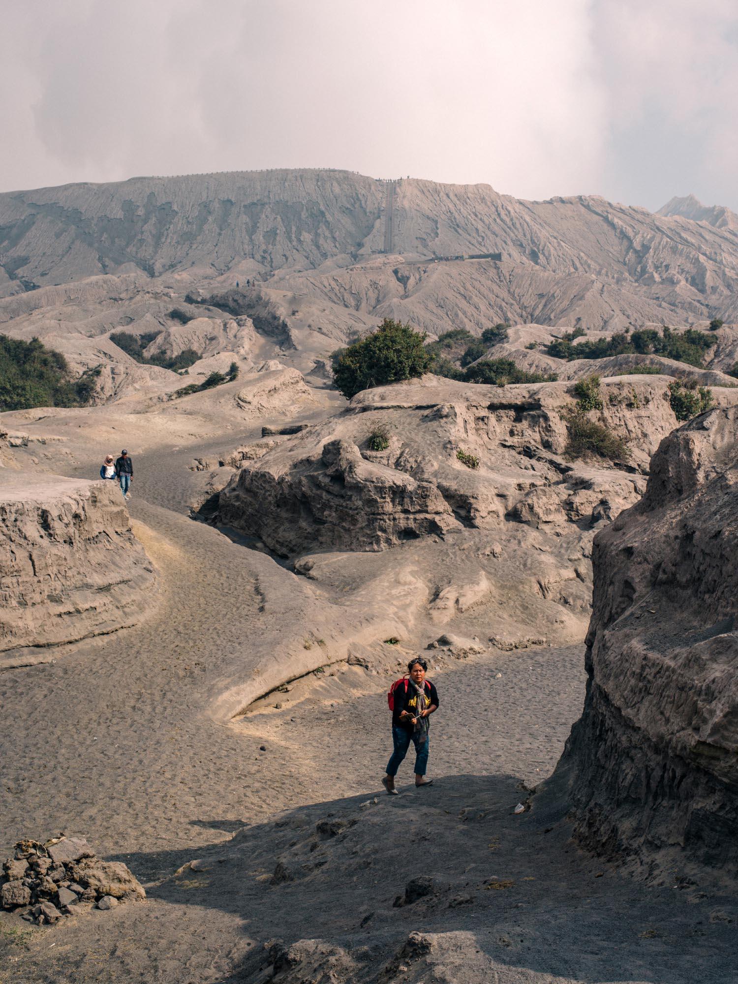 Path to Bromo's crater rim.
