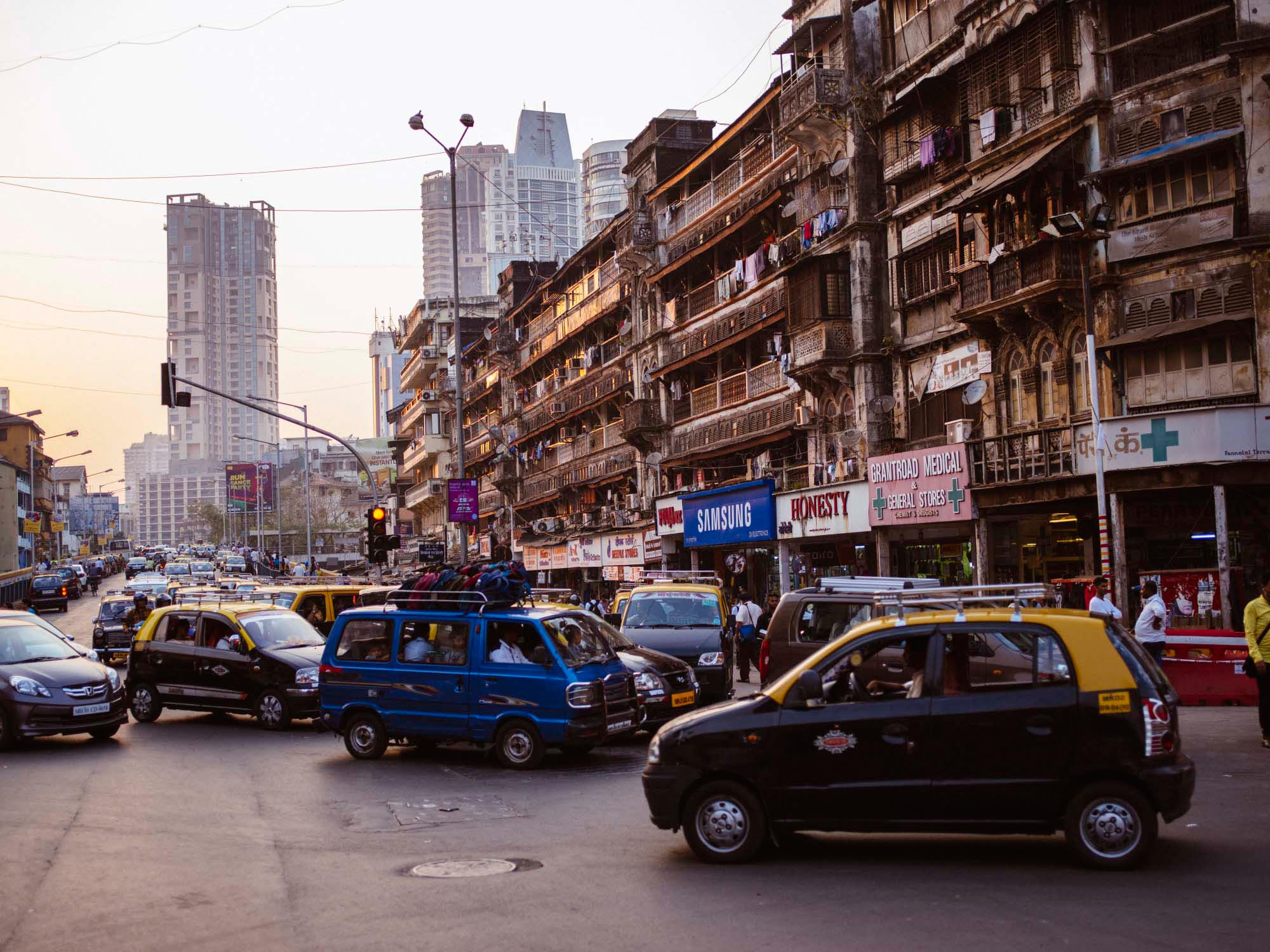 The starting point of our trip around the world: Bombay, India.