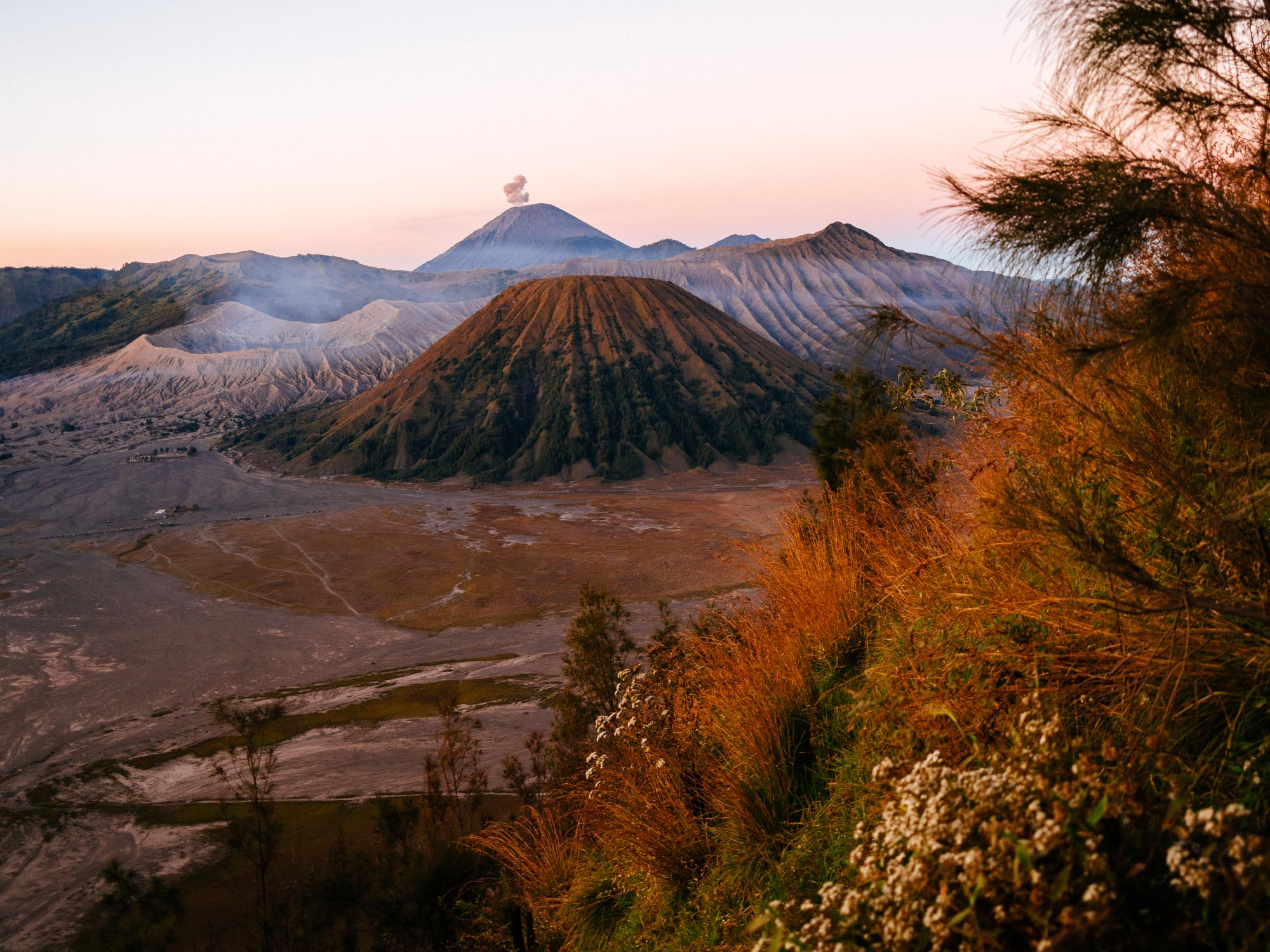 Don't worry, you'll see amazing things. This is Mount Bromo in Indonesia.