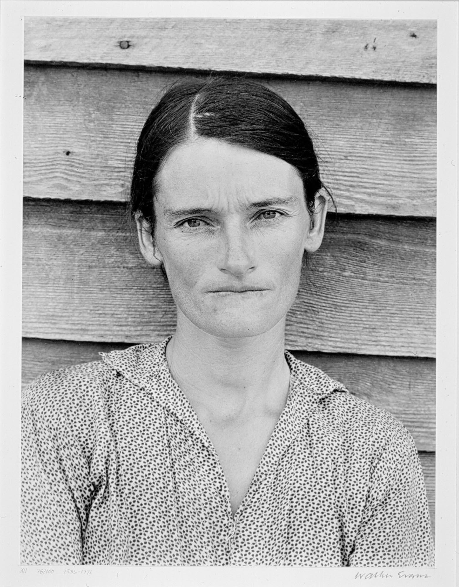 Allie Mae Burroughs, 1935. © Walker Evans