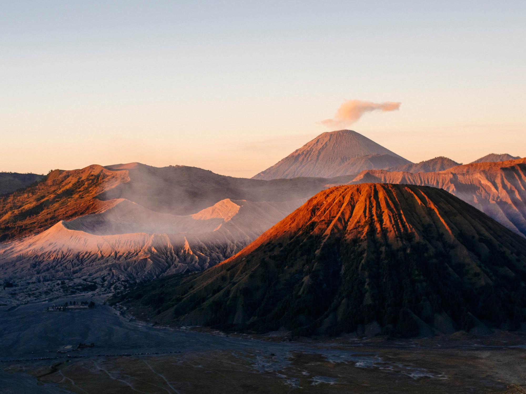 Sunrise over Mount Bromo.