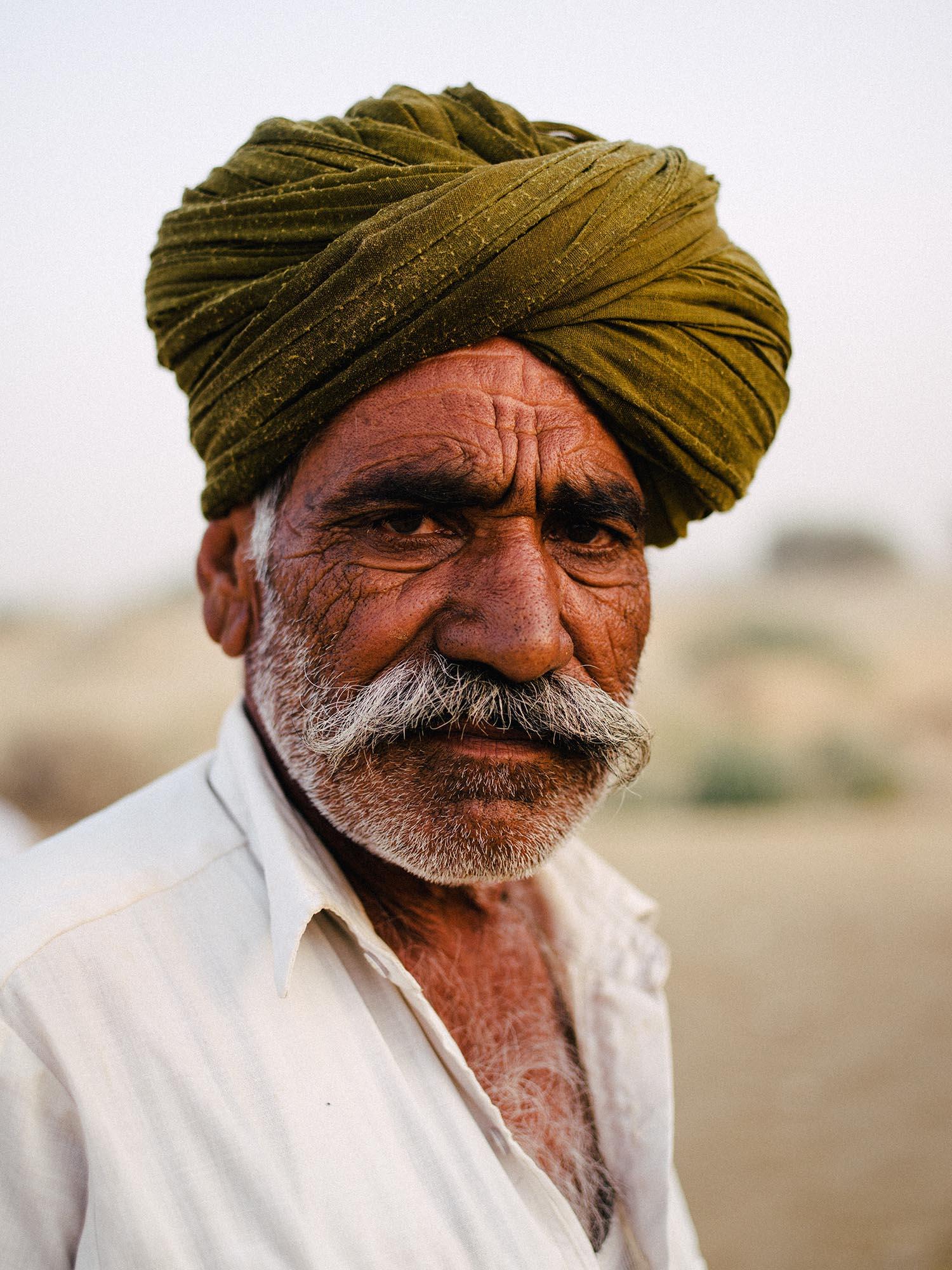 Camel Guide. Jaisalmer, India.