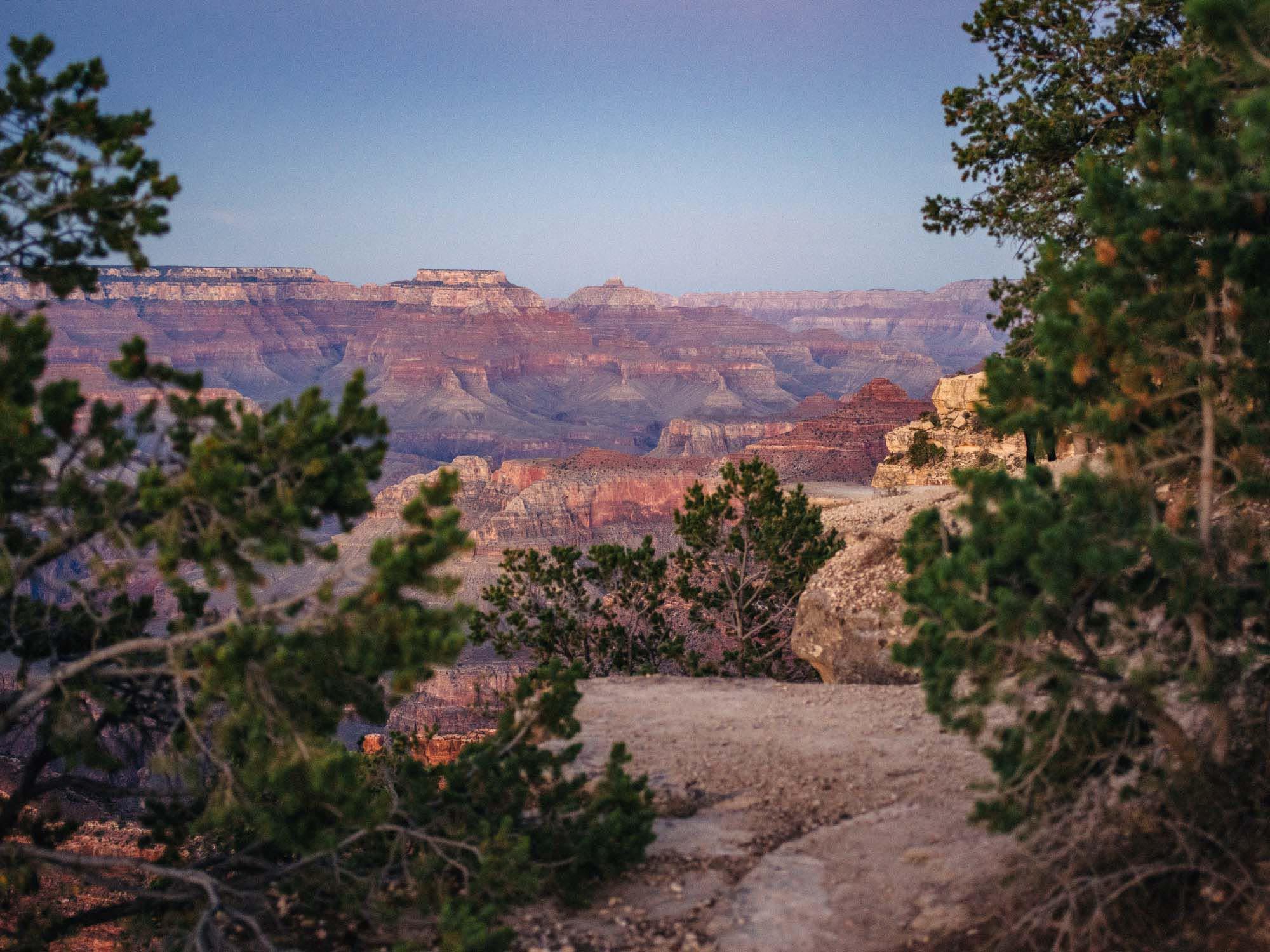 Grand Canyon after sunset, USA.