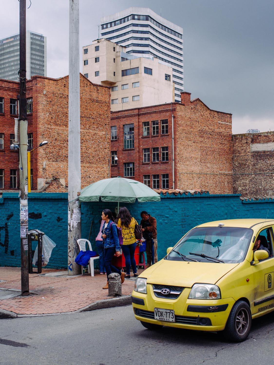 One of many yellow taxis in Bogota