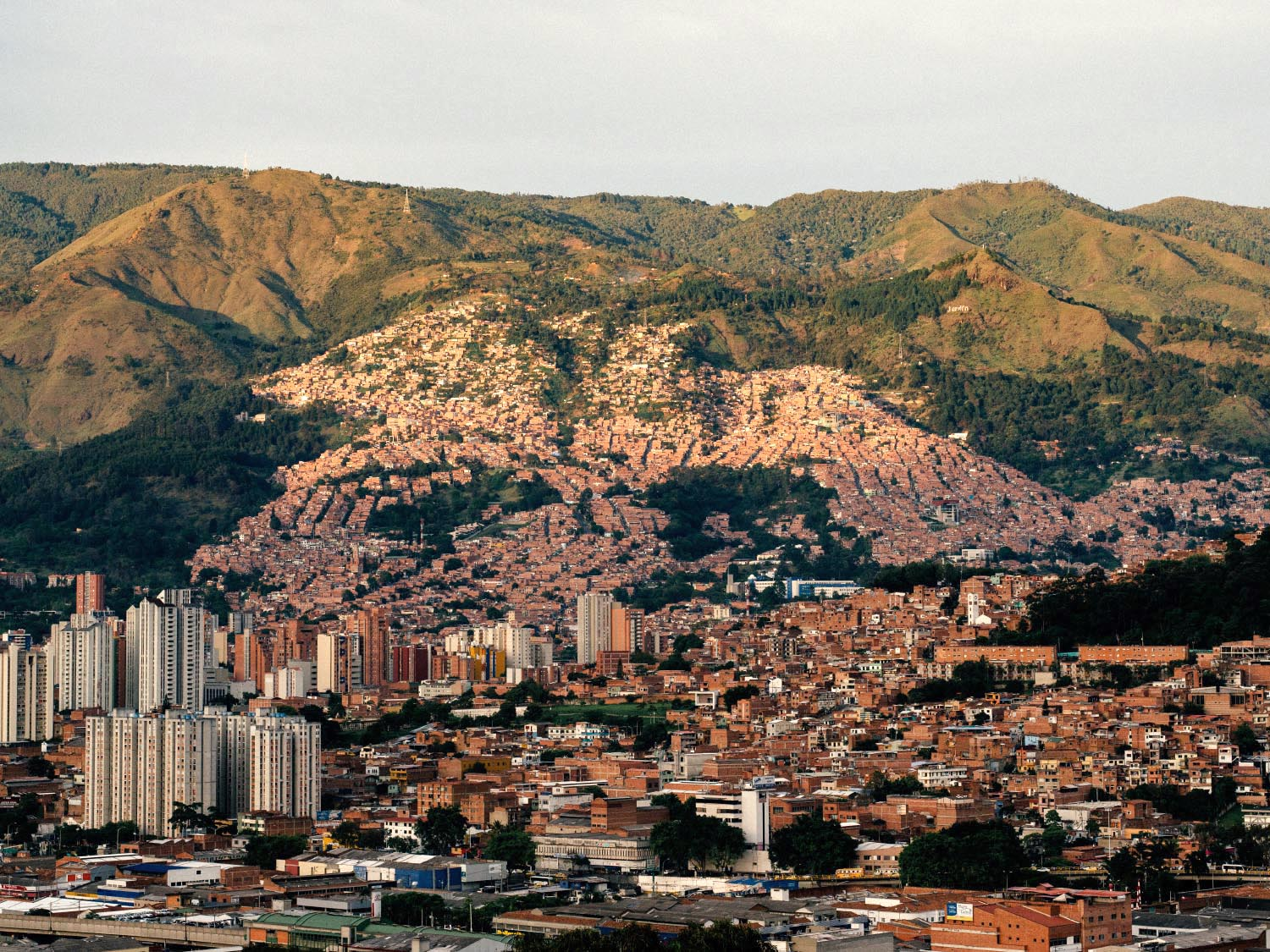 Travel photography example: Medellin, Colombia. Urbanscape.