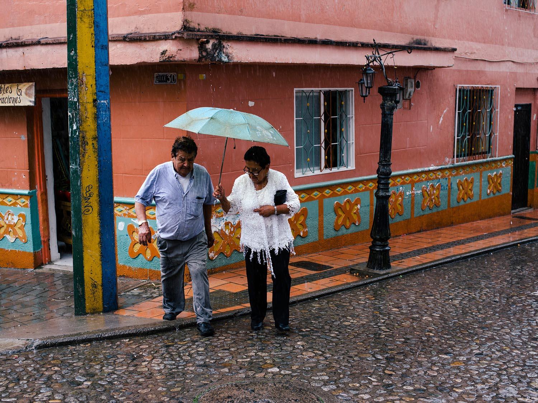 Rain in Guatapé.