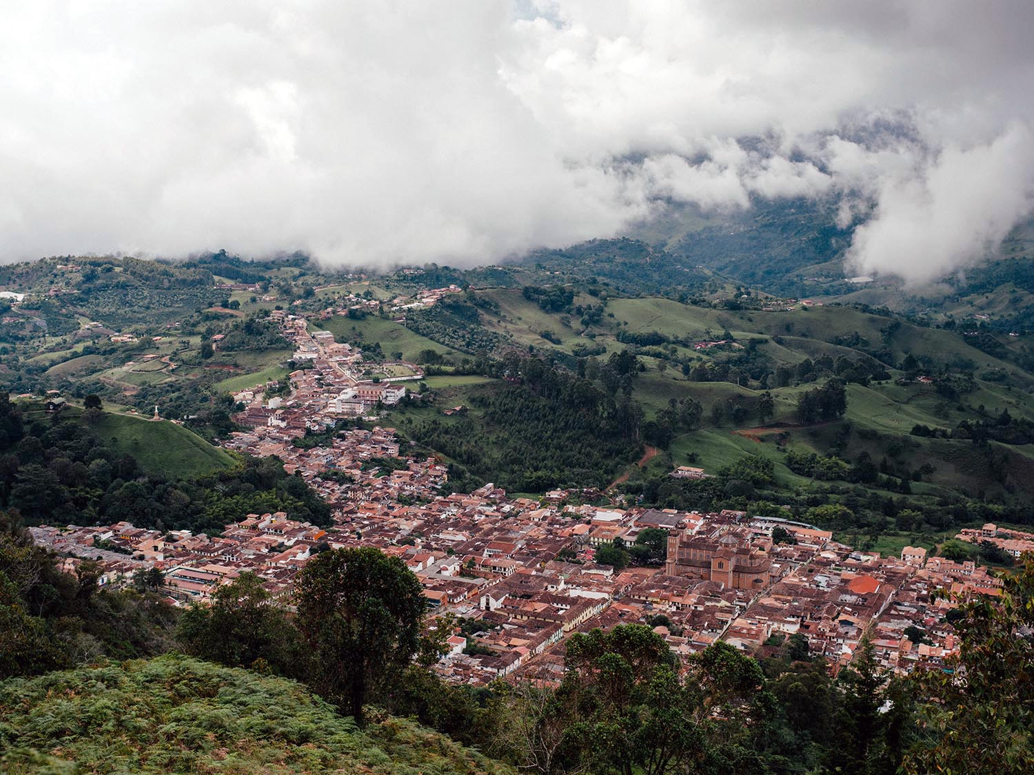 View from Cerro Las Nubes in Jericó.