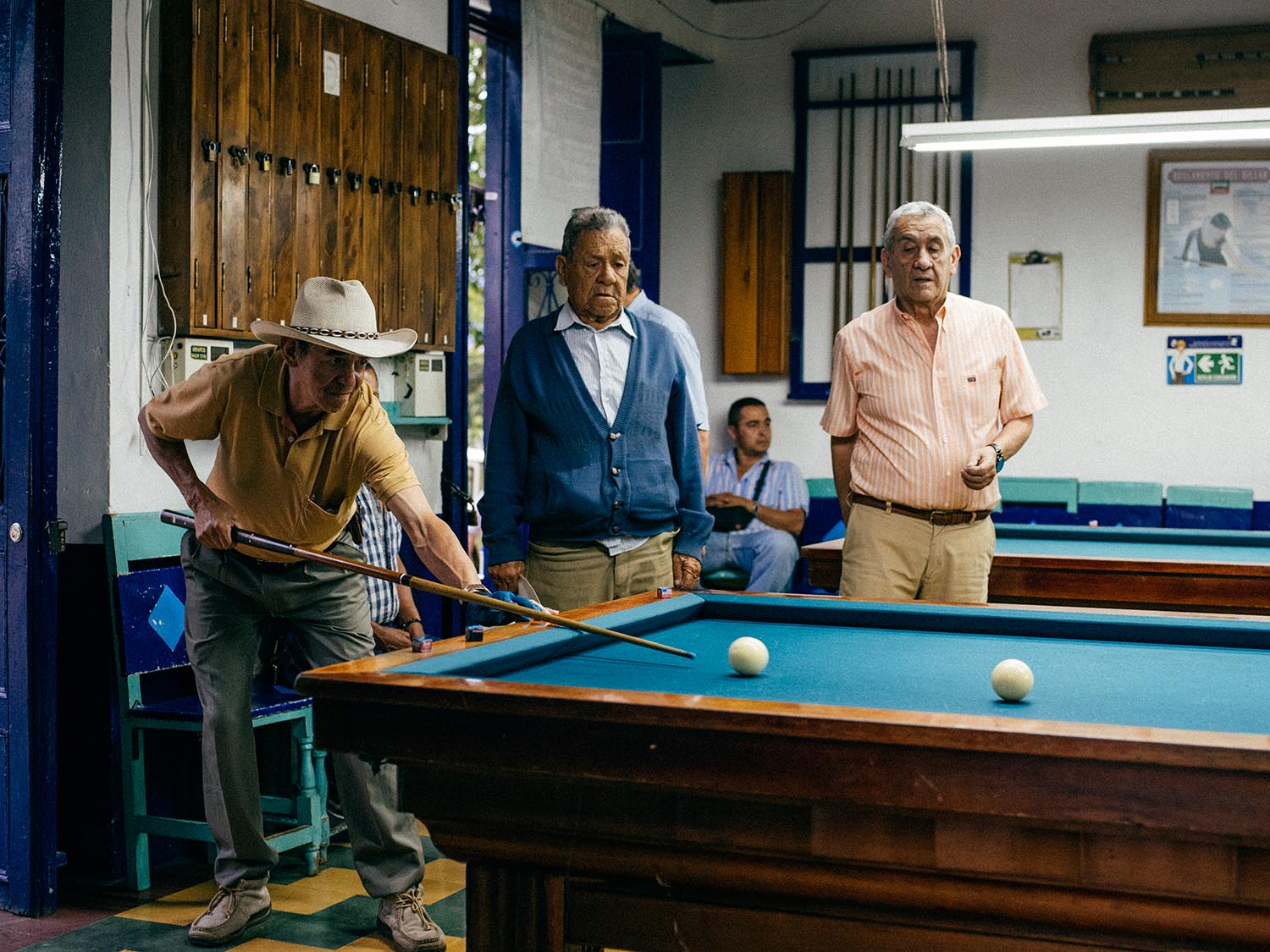 """""""Billares"""" is very popular in pretty much every Colombian town."""