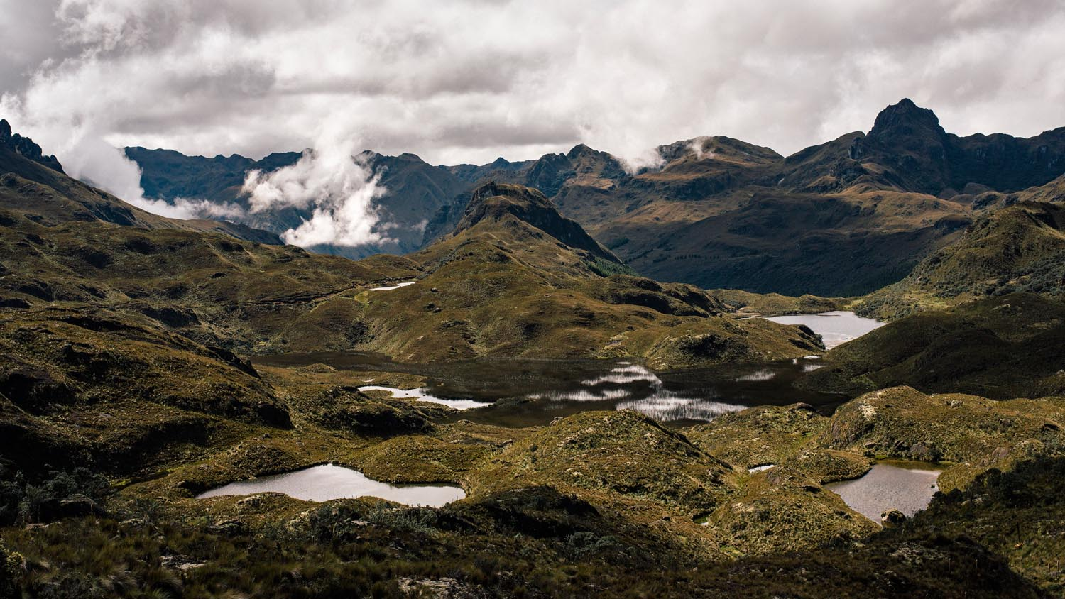 One of the amazing views in Cajas National Park.
