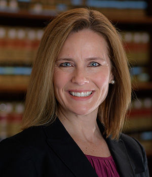 Amy Coney Barrett, The Diane and M.O. Miller, II Research Chair in Law and Professor of Law at the University of Notre Dame School of Law.