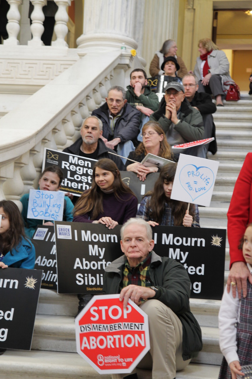 Pro-Life advocacy at the RI Statehouse.