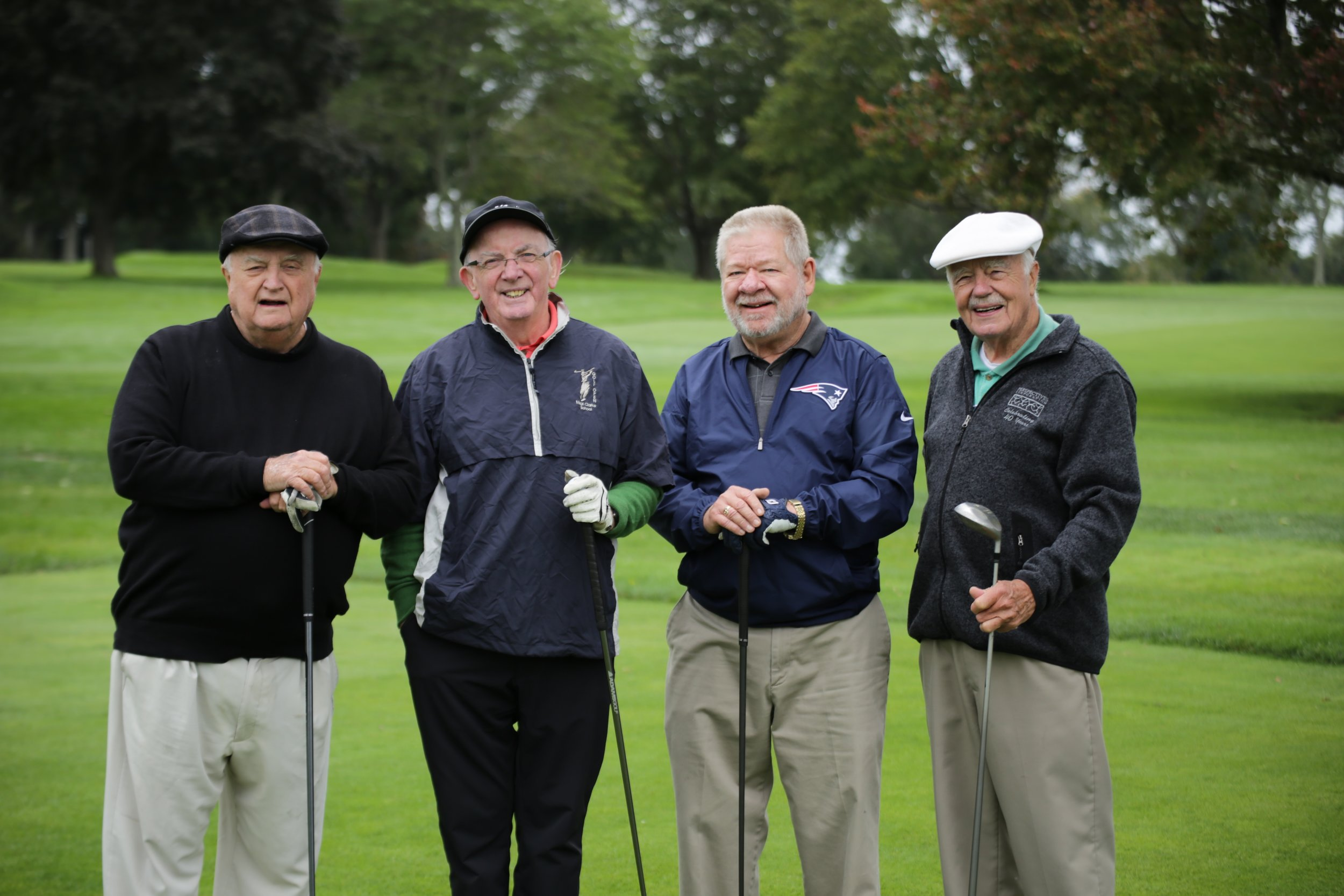 Father Gerry Beirne, Father Nick Smith, Deacon John Dowd and Msgr. Gerry Sabourin enjoyed golfing for the Saints and Scholars of OLM School!