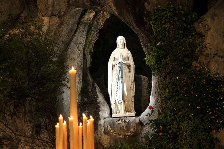 The Grotto at Lourdes, France
