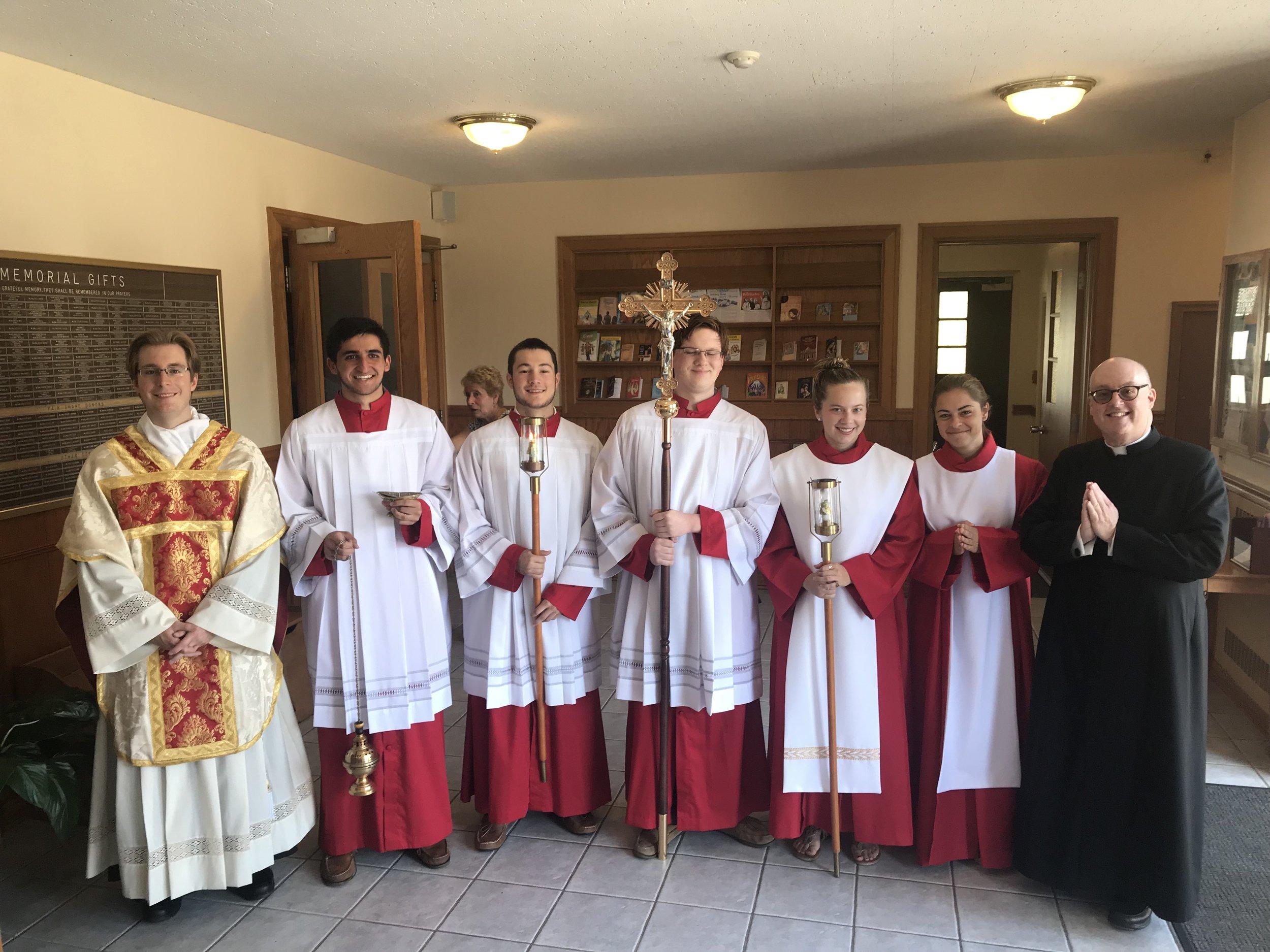 Senior Altar Servers at Corpus Christi Mass