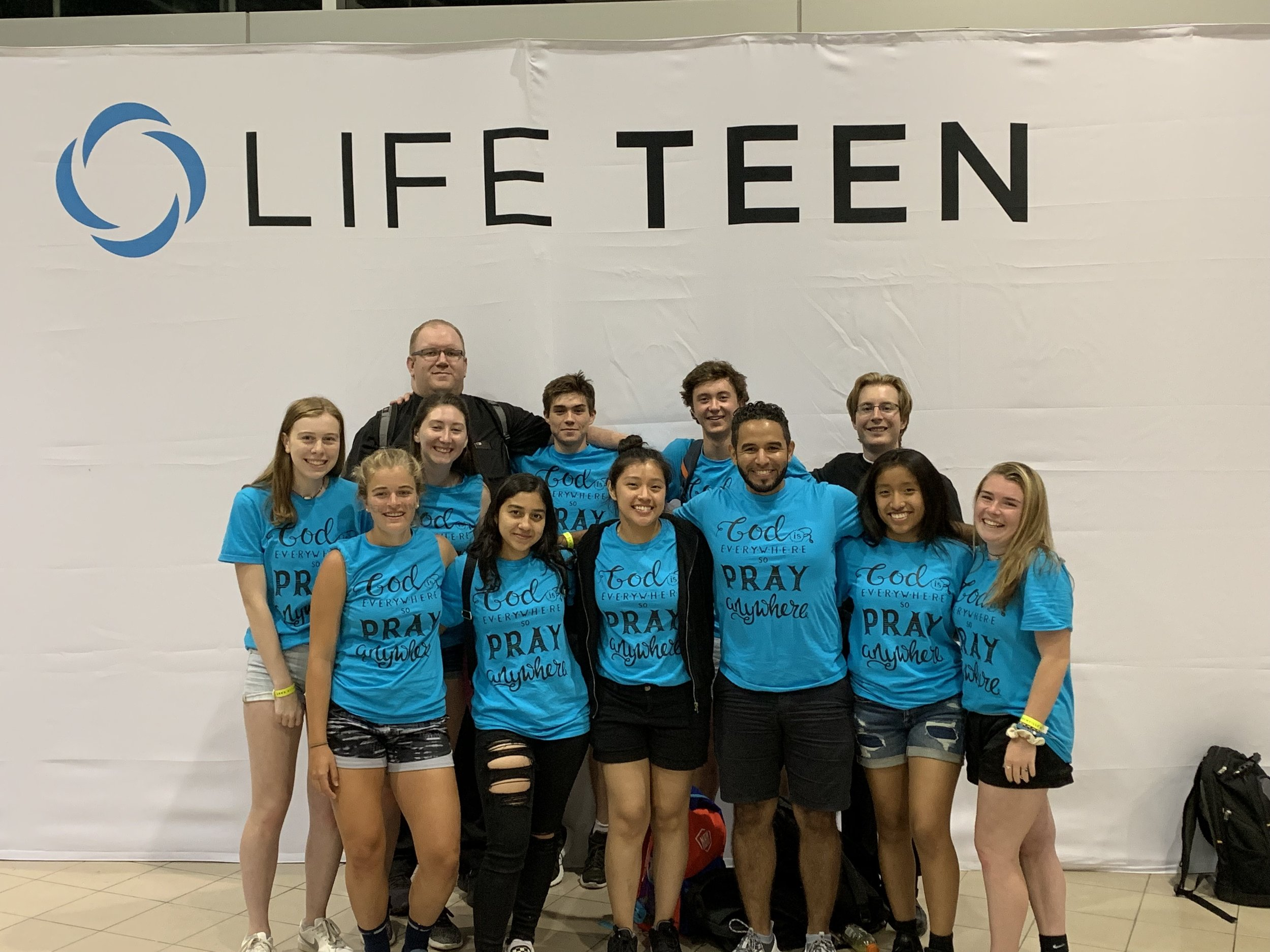 OLM Youth Group at conference.