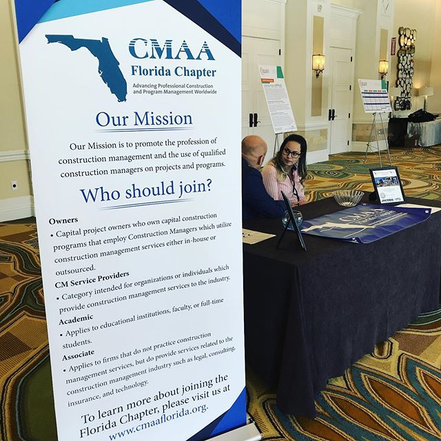 Are you attending the 2019 CMAA National Conference?? Make sure you stop by the Florida Chapter table and say hello!! #cmaa19 #floridachapter #constructionprojects #constructionmanagement