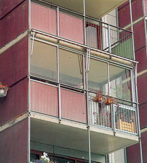 Copy of Zabudowa balkonu z aluminium i szkła.