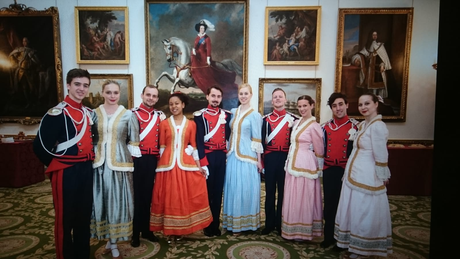 Mazury greeted guests dressed in the traditional Mazur & Polonez costumes