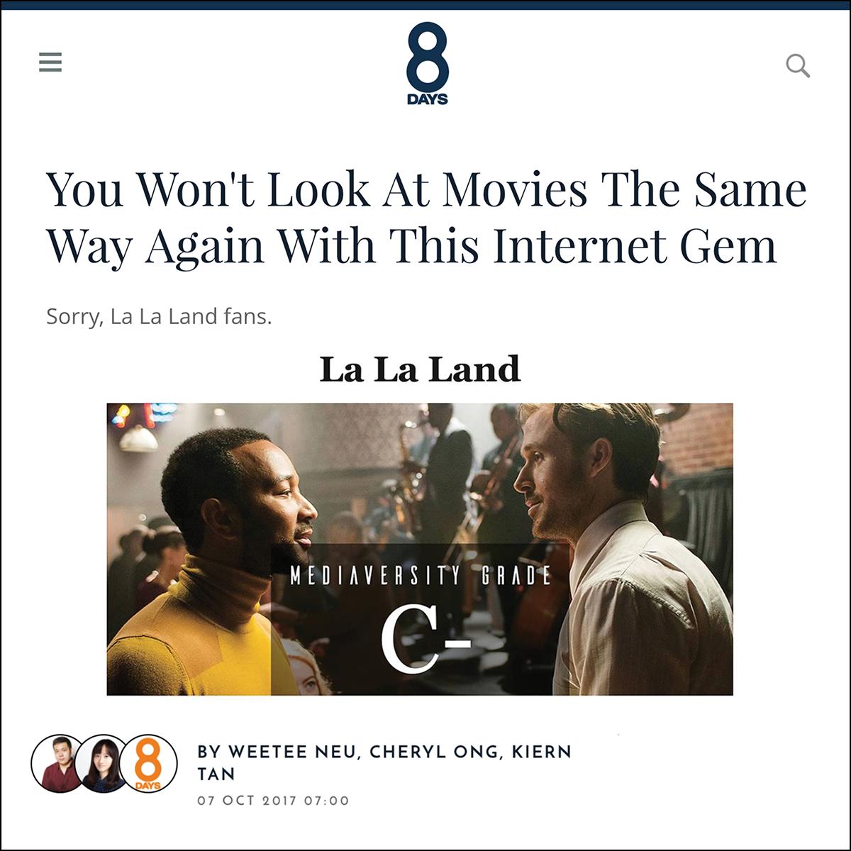 8 Days    Written by Weetee Neu, Cheryl Ong, and Kiern Tan, October 2017