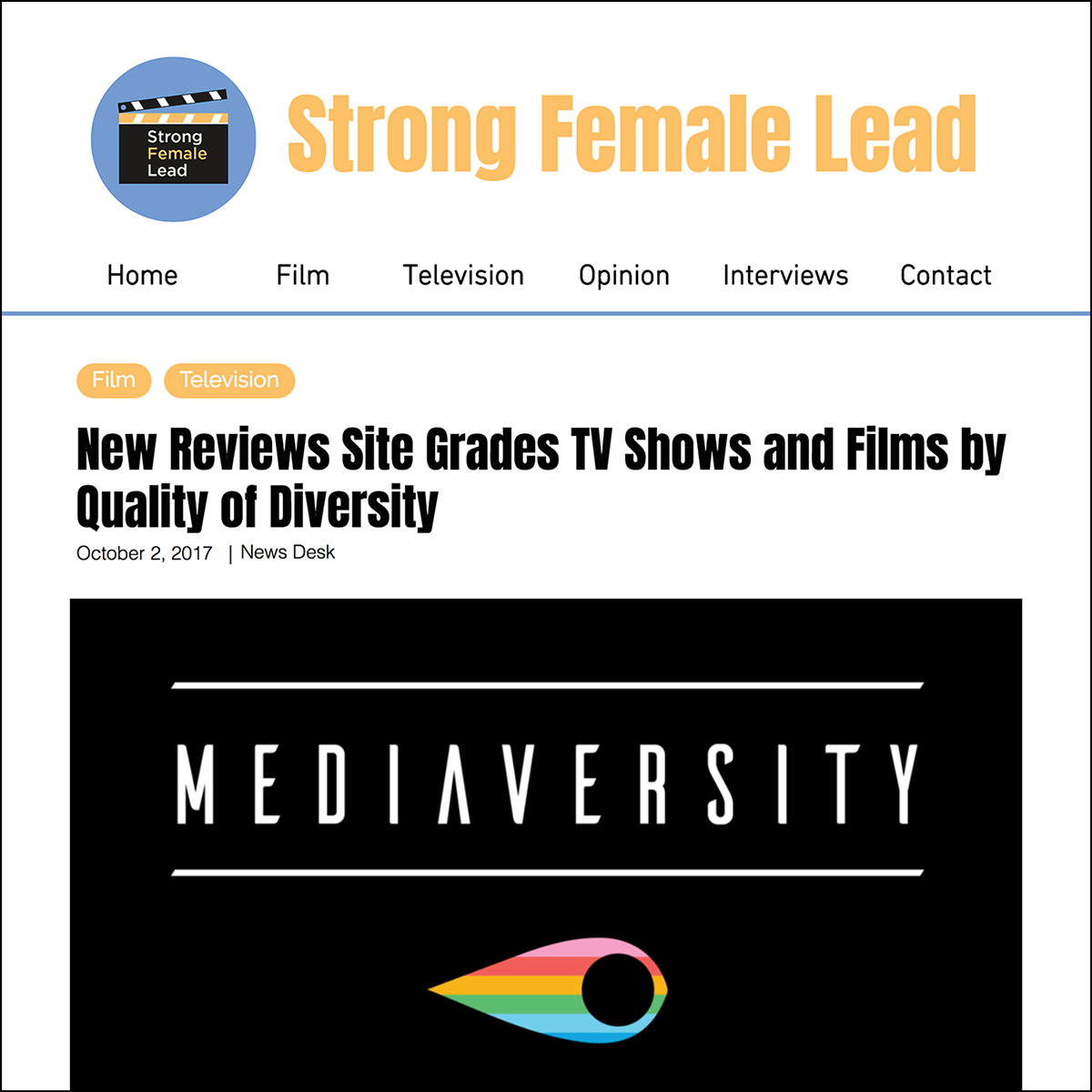 Strong Female Lead    October 2017