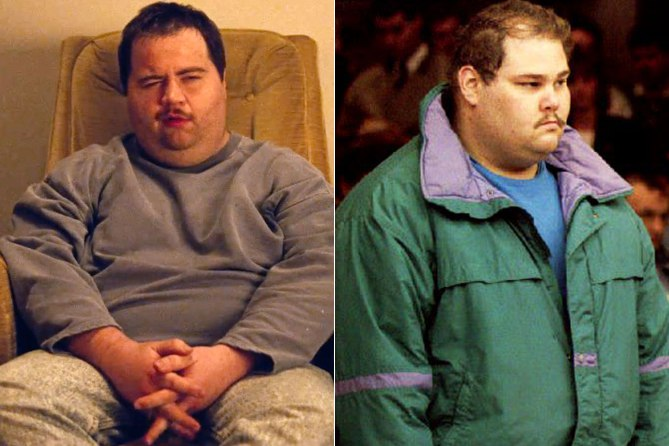 At left is Paul Walter Hauser in  I, Tonya  and at right is the real Shawn Eckhardt