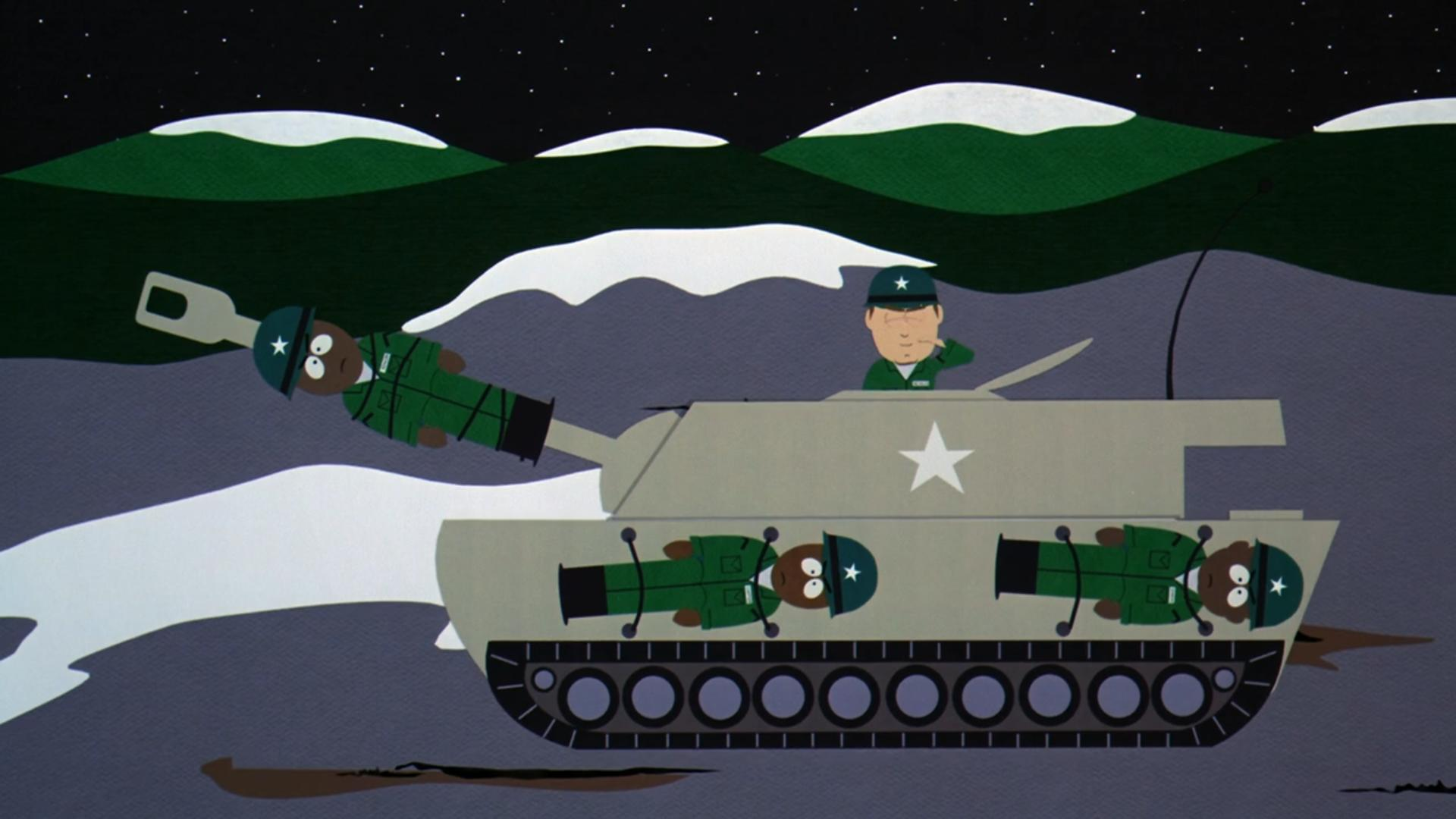 """Operation Human Shield"" from South Park: Bigger, Longer & Uncut (1999)"