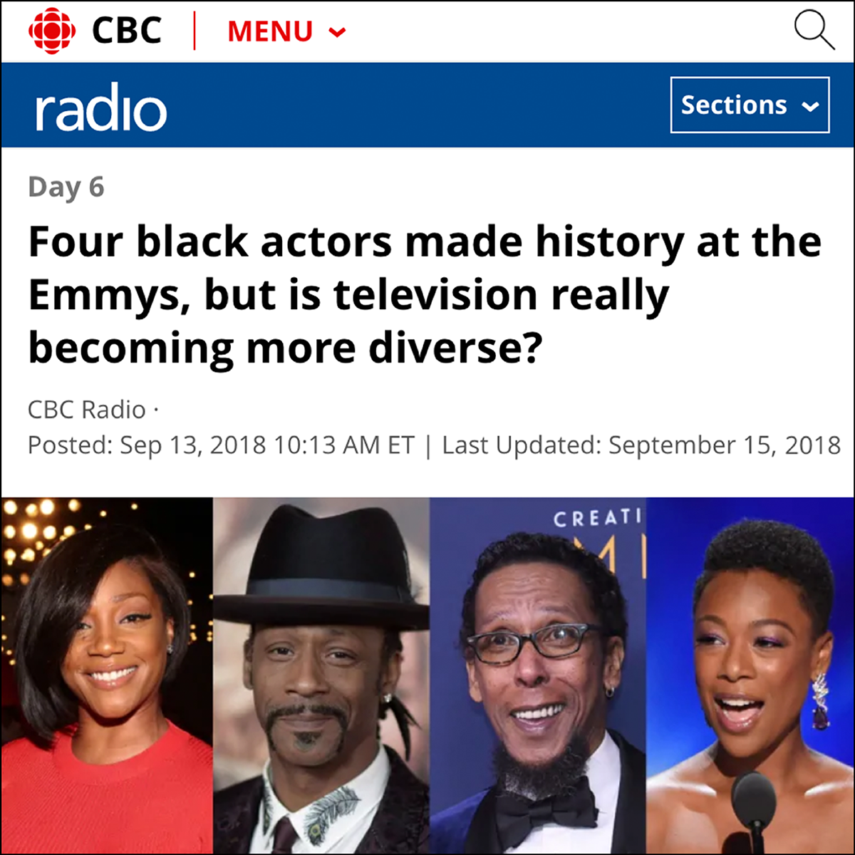 CBC Radio - Day 6    Interview with Brent Brambury, September 2018