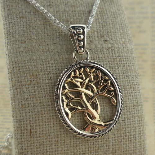 Celtic Tree of Life Pendant 10K & Silver