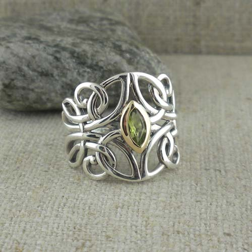 Guardian Angel Ring with Gem