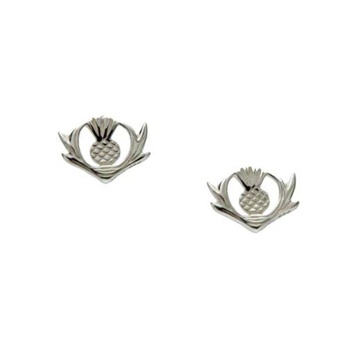 Sterling Silver Scottish Thistle Earrings