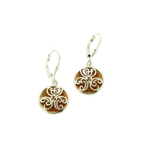 Celtic Spiral Faerie Pool Earrings